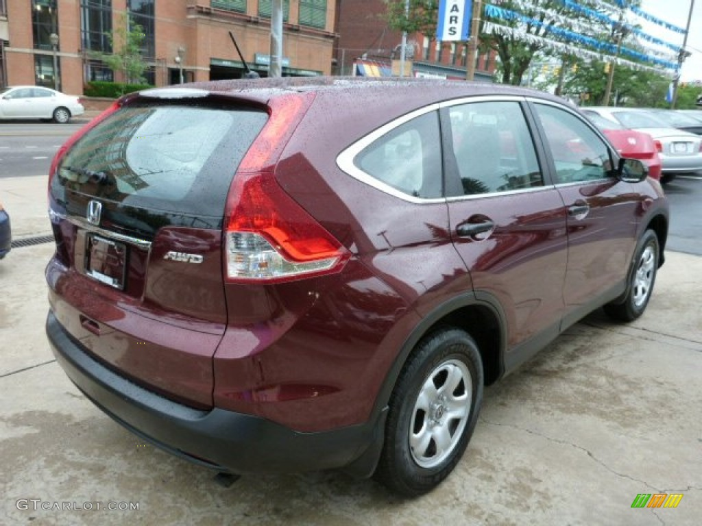 2012 CR-V LX 4WD - Basque Red Pearl II / Gray photo #11
