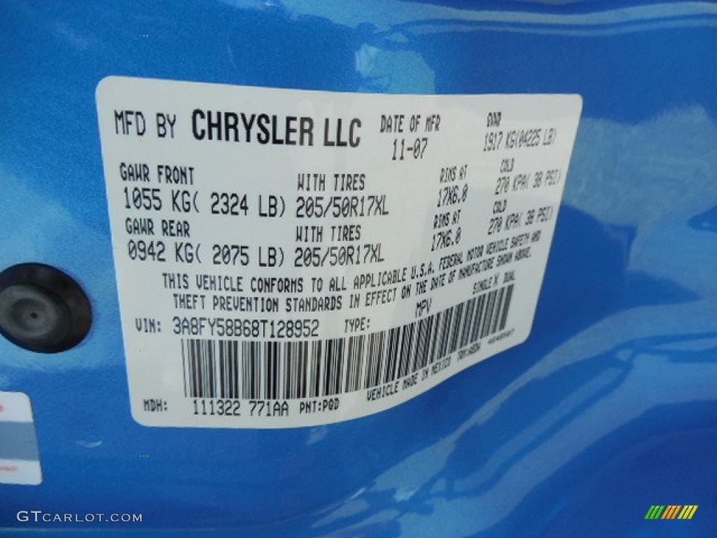 Chrysler Paint Codes Pic