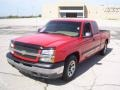 2005 Victory Red Chevrolet Silverado 1500 LS Extended Cab  photo #4