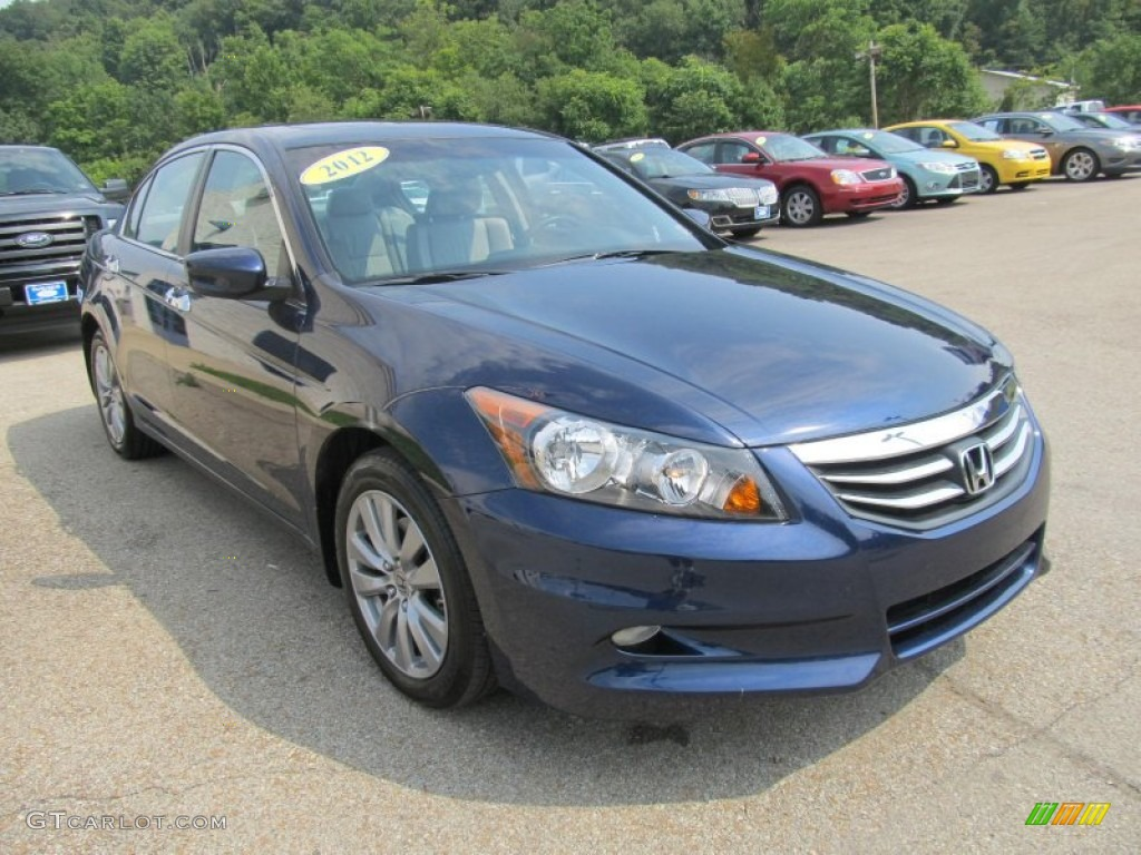 royal blue pearl 2012 honda accord ex l v6 sedan exterior photo 82157194. Black Bedroom Furniture Sets. Home Design Ideas