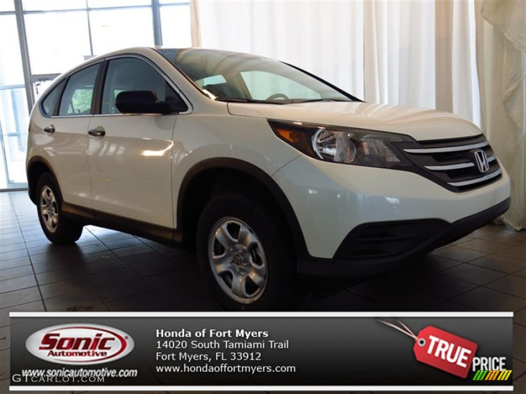 2013 CR-V LX - White Diamond Pearl / Gray photo #1