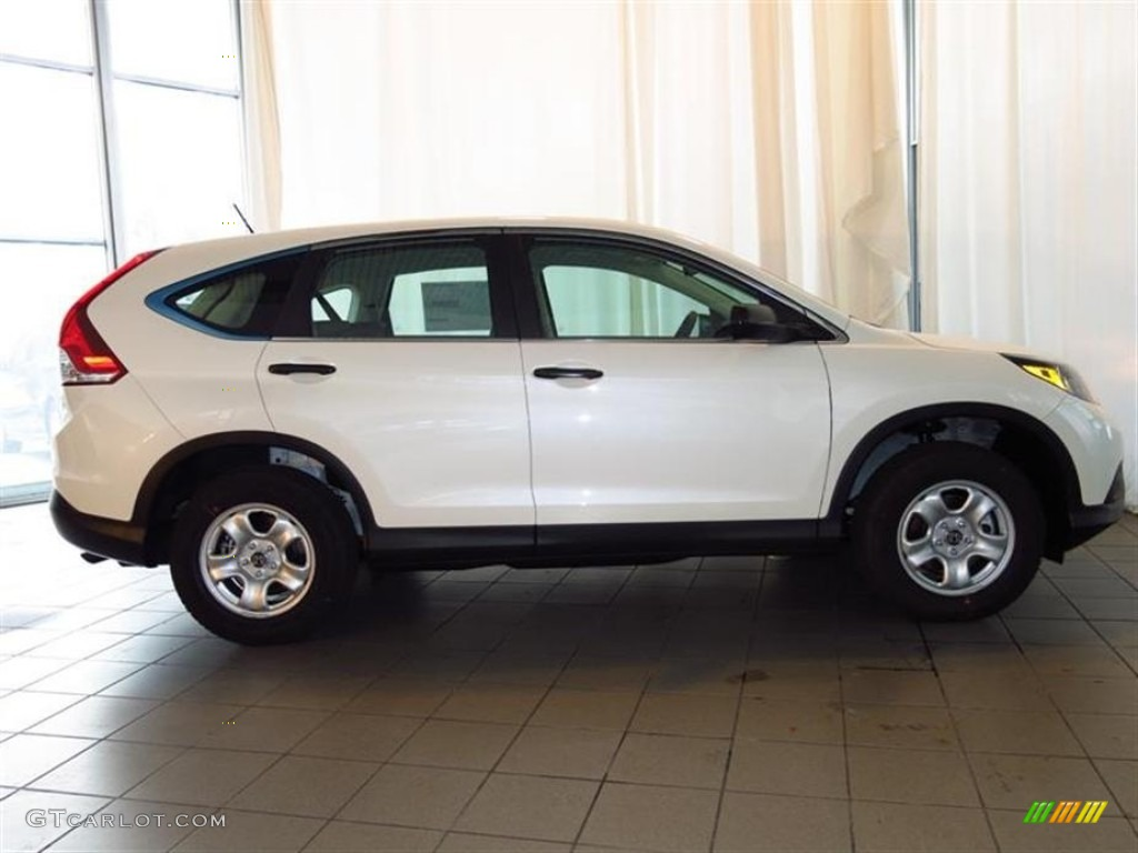 2013 CR-V LX - White Diamond Pearl / Gray photo #2