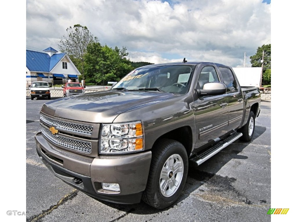 2013 Silverado 1500 LTZ Crew Cab 4x4 - Mocha Steel Metallic / Ebony photo #1