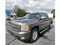 2013 Mocha Steel Metallic Chevrolet Silverado 1500 LTZ Crew Cab 4x4  photo #1