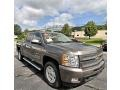 2013 Mocha Steel Metallic Chevrolet Silverado 1500 LTZ Crew Cab 4x4  photo #2