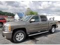 2013 Mocha Steel Metallic Chevrolet Silverado 1500 LTZ Crew Cab 4x4  photo #3