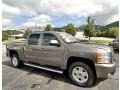 2013 Mocha Steel Metallic Chevrolet Silverado 1500 LTZ Crew Cab 4x4  photo #4