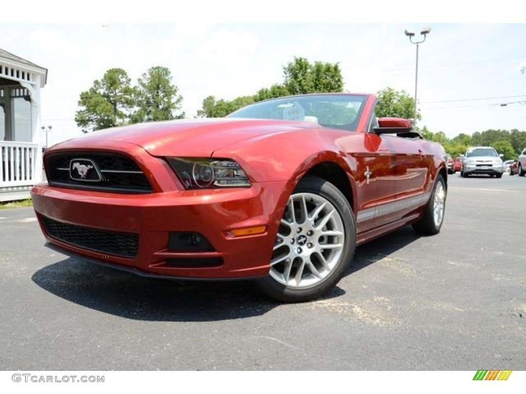 2014 ruby red ford mustang v6 premium convertible 82161366 car color galleries. Black Bedroom Furniture Sets. Home Design Ideas