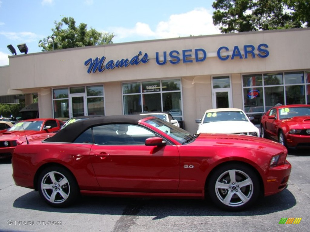 2013 mustang gt premium convertible red candy metallic charcoal black photo 1