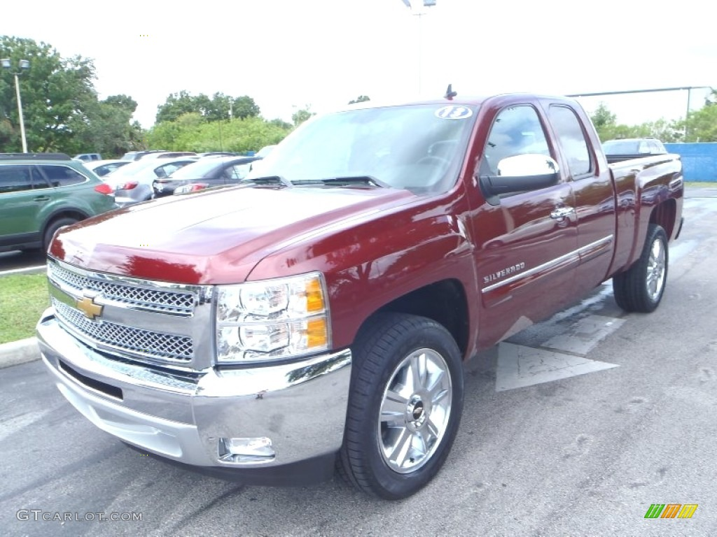 2013 Silverado 1500 LT Extended Cab - Deep Ruby Metallic / Ebony photo #1