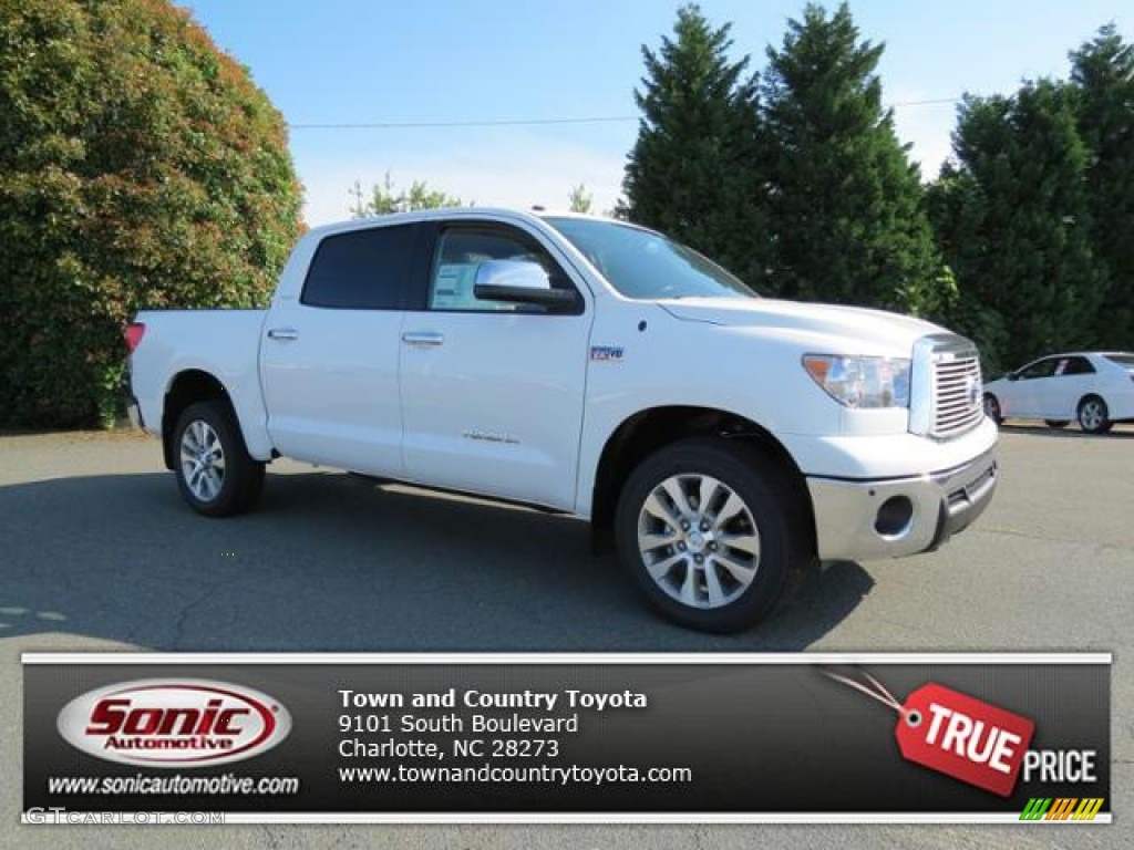 2013 Tundra Platinum CrewMax 4x4 - Super White / Graphite photo #1