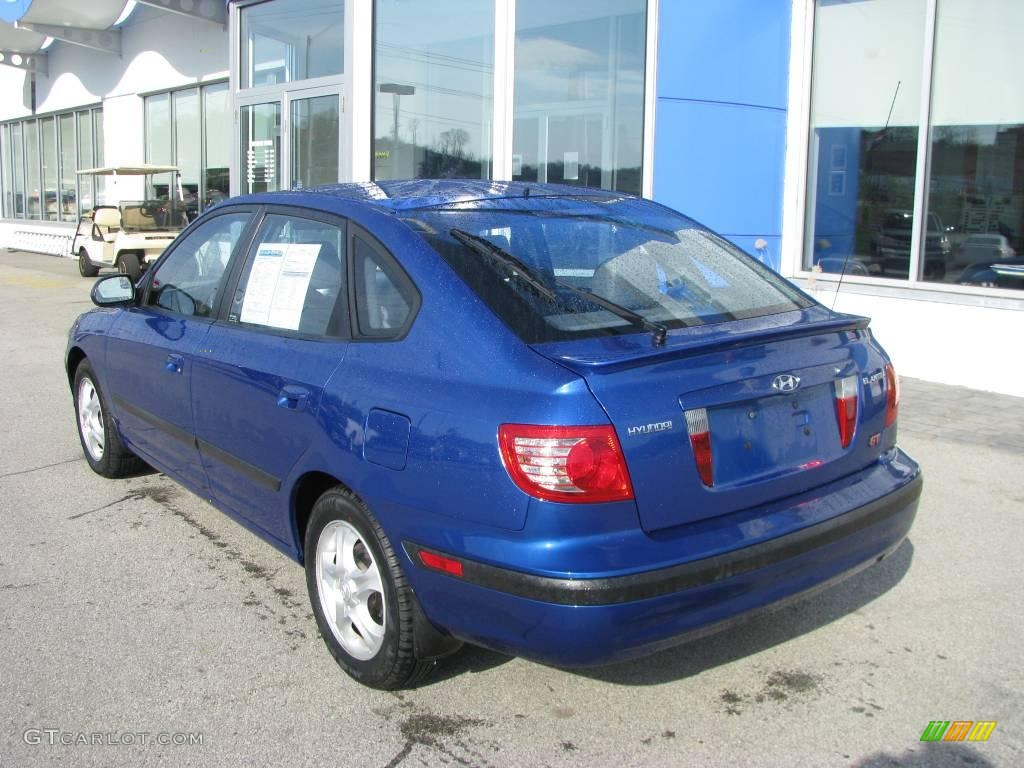 2005 elantra gt hatchback tidal wave blue gray photo 4