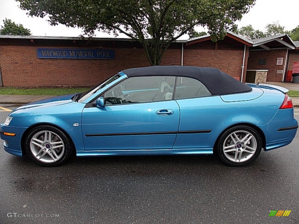 electric blue metallic 2006 saab 9 3 aero convertible. Black Bedroom Furniture Sets. Home Design Ideas