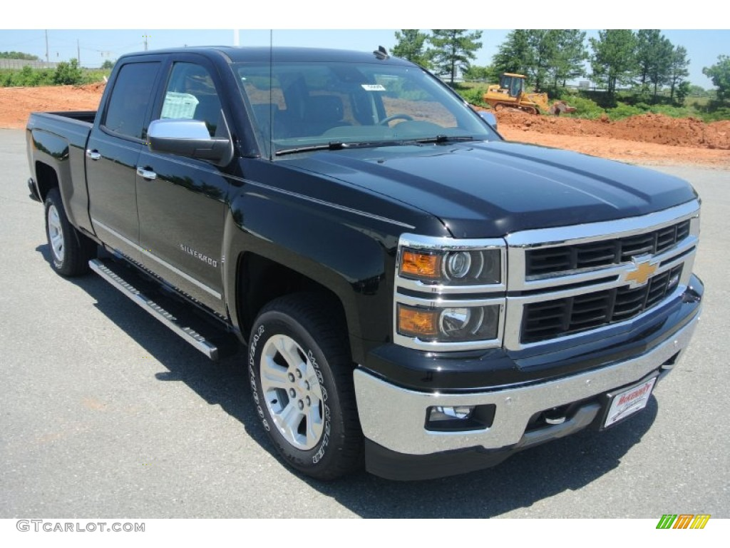 2014 black chevrolet silverado 1500 ltz z71 crew cab 4x4 82215904 car color. Black Bedroom Furniture Sets. Home Design Ideas