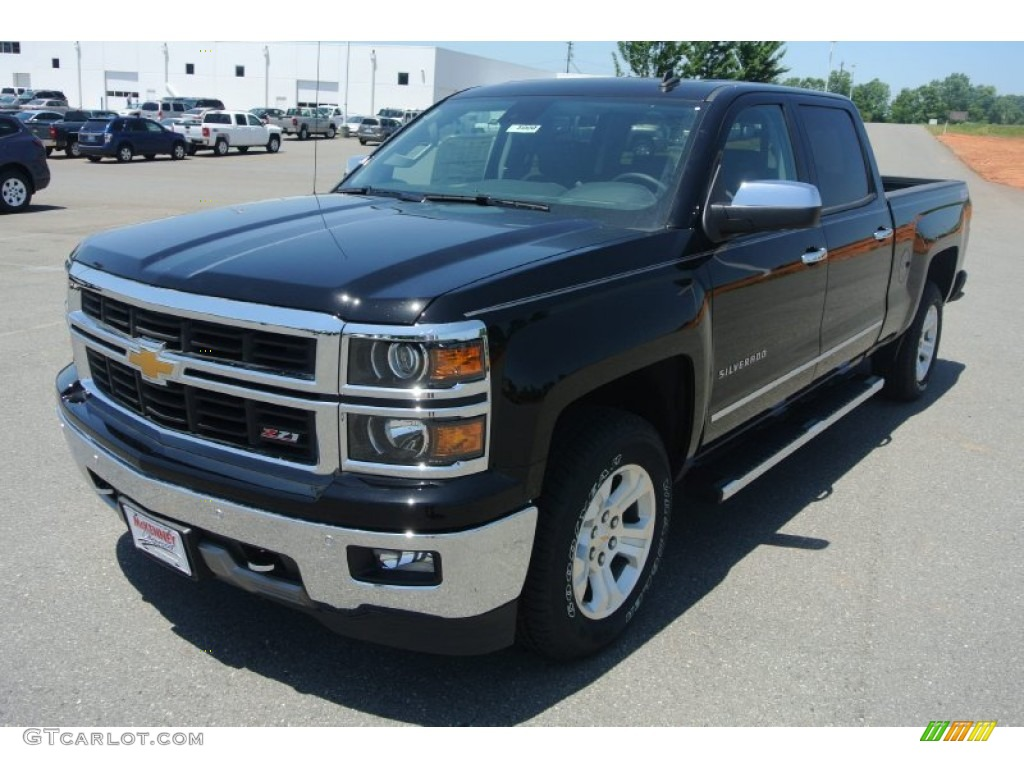 2014 black chevrolet silverado 1500 ltz z71 crew cab 4x4 82215904 photo 2 car. Black Bedroom Furniture Sets. Home Design Ideas