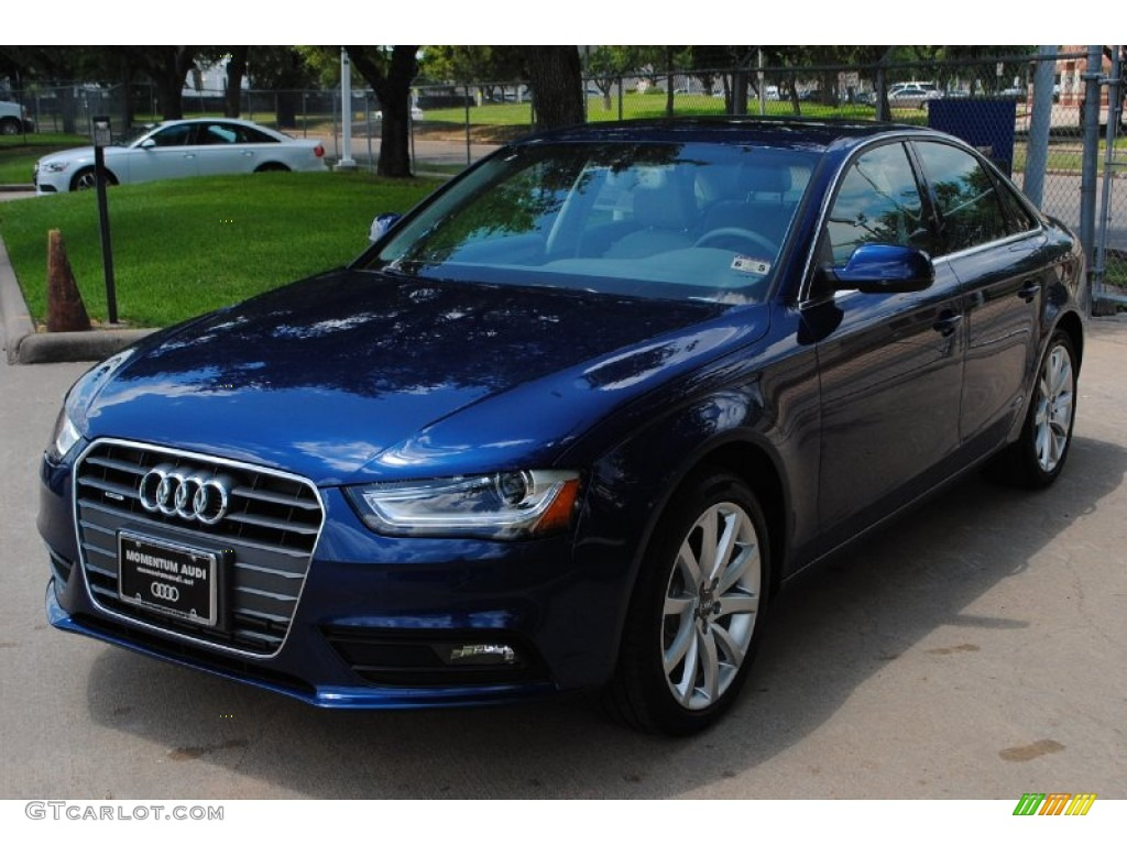 2013 a4 2 0t quattro sedan scuba blue metallic titanium gray photo 3