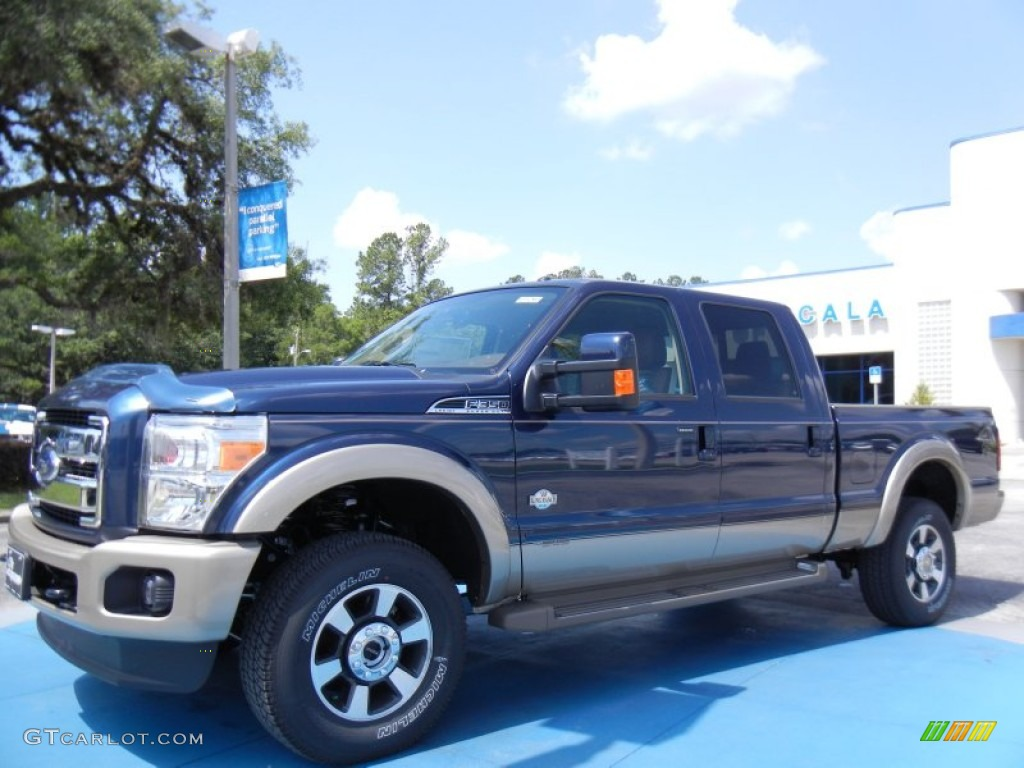 2013 Blue Jeans Metallic Ford F350 Super Duty King Ranch Crew Cab 4x4 82215425