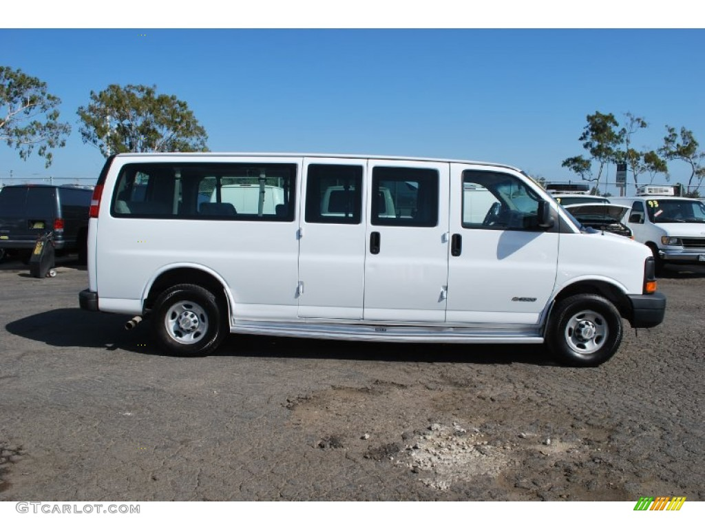 summit white 2006 chevrolet express ls 3500 extended. Black Bedroom Furniture Sets. Home Design Ideas