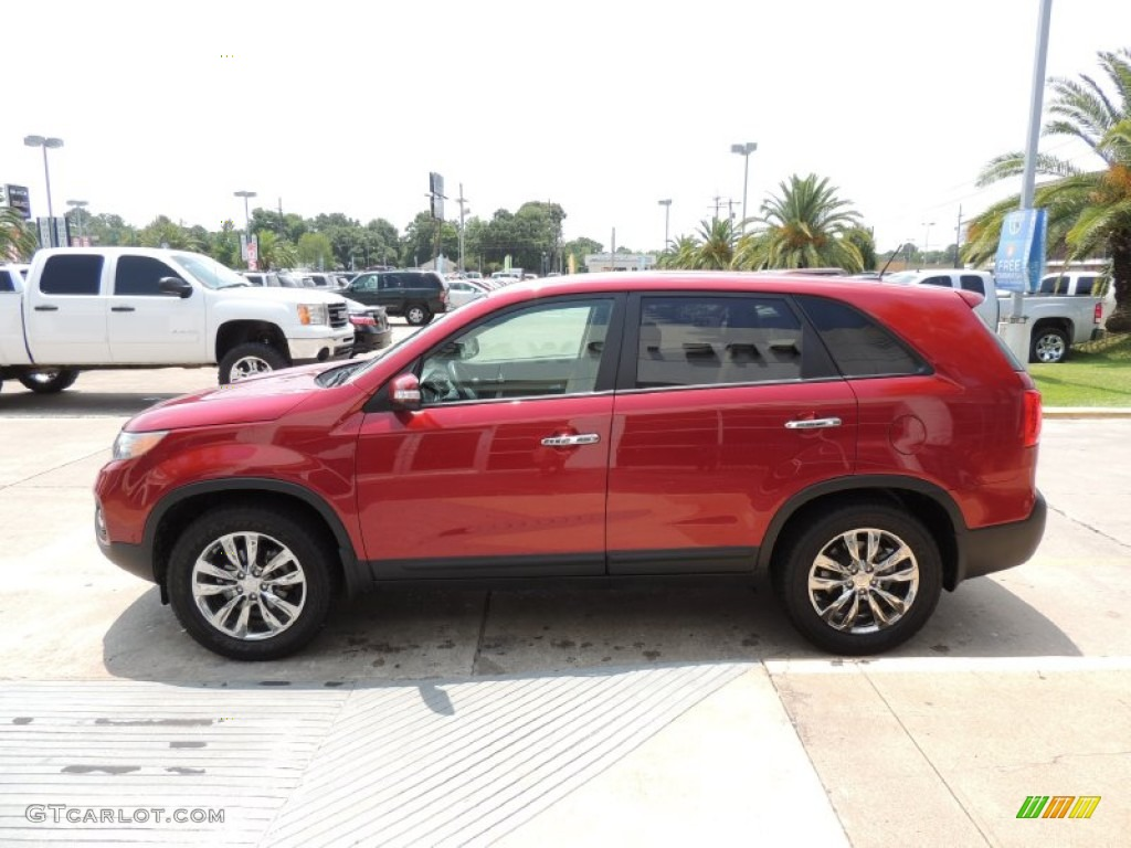 2011 Sorento EX - Spicy Red / Beige photo #5