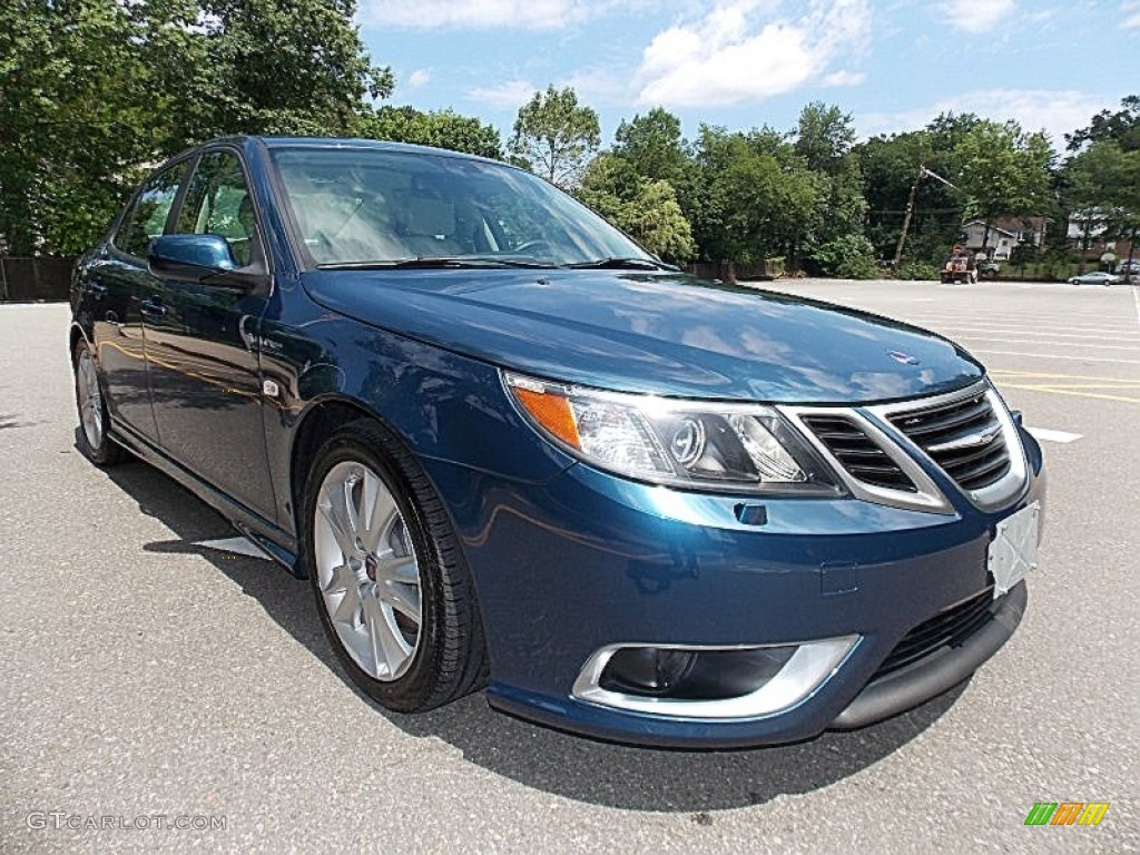 2008 fusion blue metallic saab 9 3 aero sport sedan. Black Bedroom Furniture Sets. Home Design Ideas