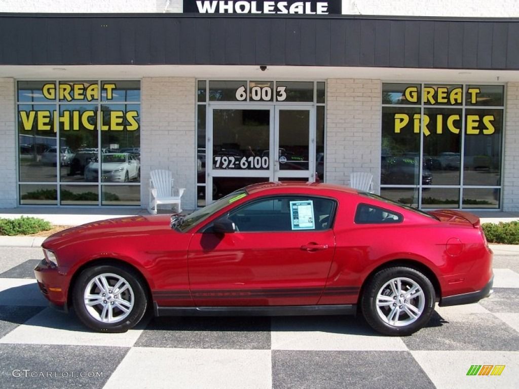 2011 Mustang V6 Coupe - Red Candy Metallic / Stone photo #1
