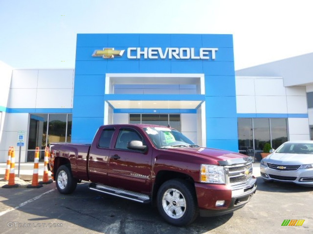 2009 Silverado 1500 LT Extended Cab 4x4 - Deep Ruby Red Metallic / Ebony photo #1