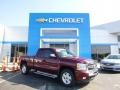 2009 Deep Ruby Red Metallic Chevrolet Silverado 1500 LT Extended Cab 4x4  photo #1