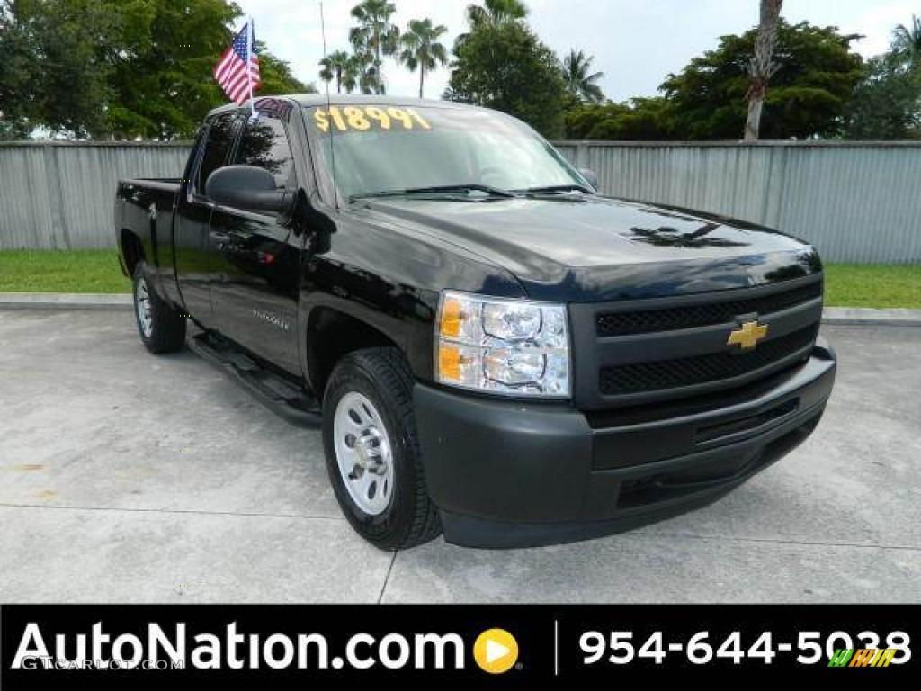 2012 Silverado 1500 Work Truck Extended Cab - Black / Dark Titanium photo #1