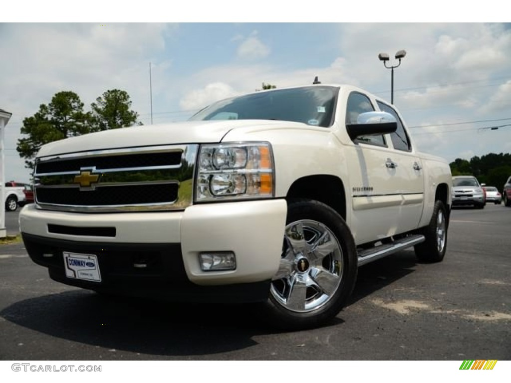 2011 Silverado 1500 LTZ Crew Cab - White Diamond Tricoat / Dark Cashmere/Light Cashmere photo #1