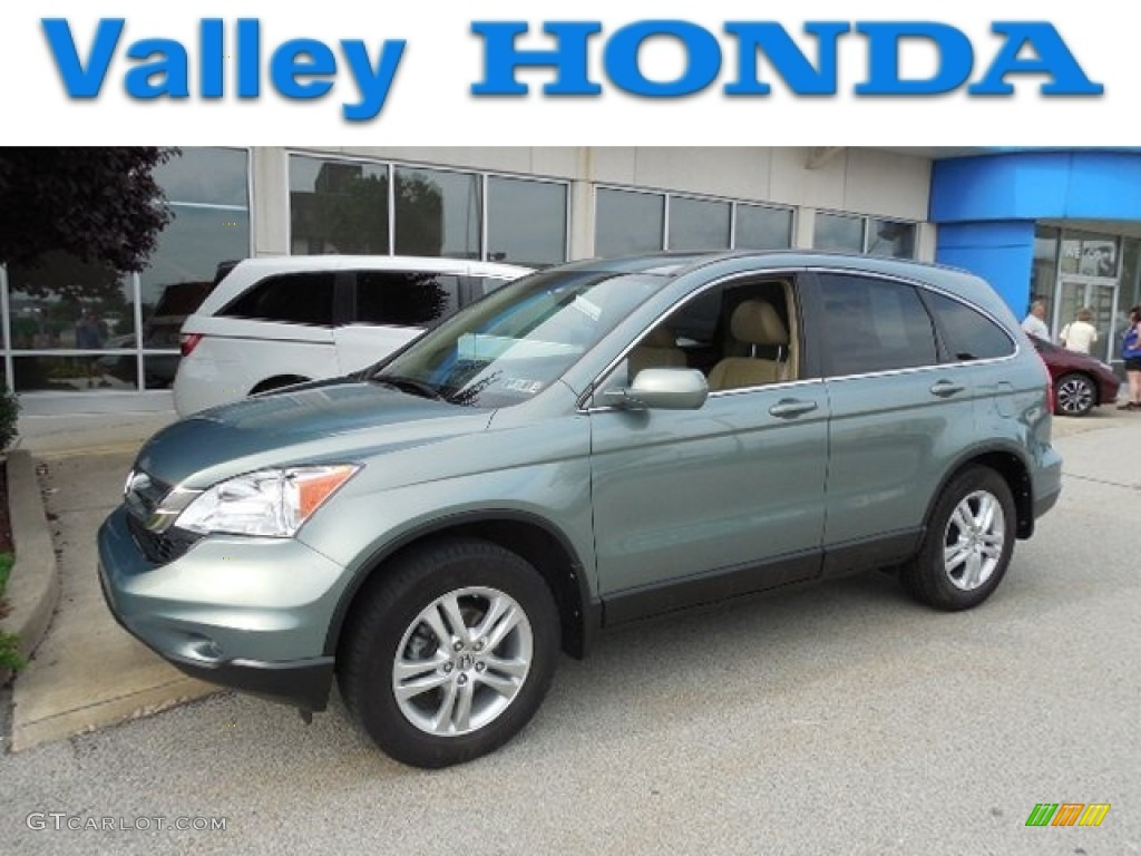 2010 CR-V EX-L AWD - Opal Sage Metallic / Ivory photo #1