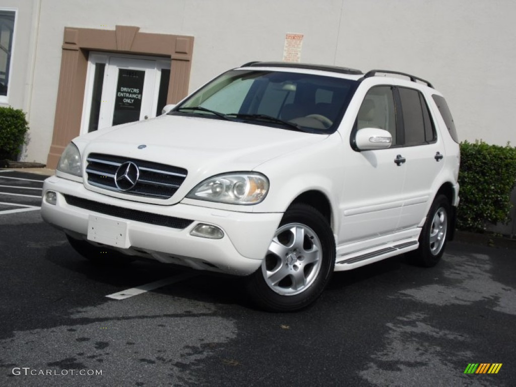 2002 alabaster white mercedes benz ml 320 4matic 82360525 for Mercedes benz ml 2002
