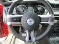 2014 Ford Mustang California Special Charcoal Black/Miko Suede Interior Steering Wheel Photo