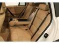 2009 BMW X3 Sand Beige Nevada Leather Interior Rear Seat Photo