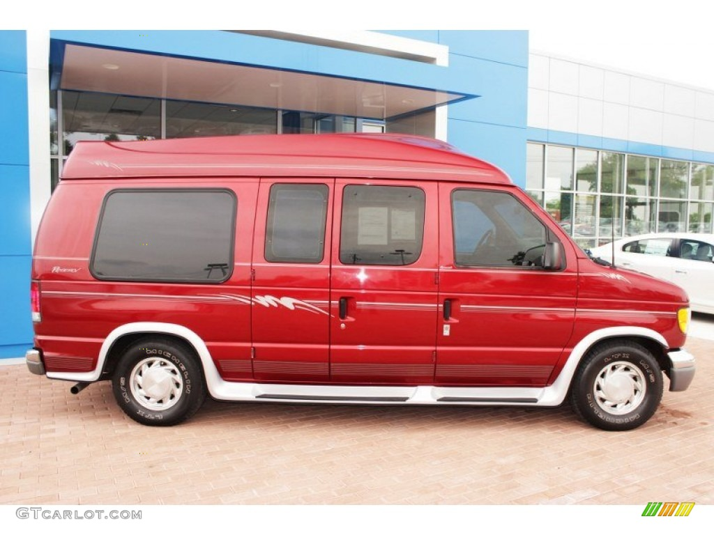 toreador red metallic 2000 ford e series van e150. Black Bedroom Furniture Sets. Home Design Ideas