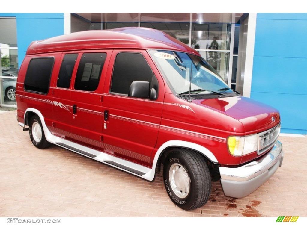 toreador red metallic 2000 ford e series van e150. Black Bedroom Furniture Sets. Home Design Ideas