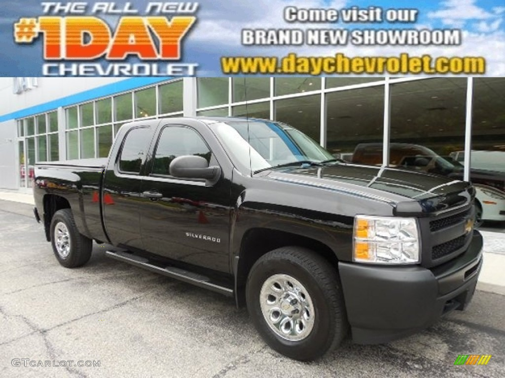 2011 Silverado 1500 Extended Cab 4x4 - Black / Dark Titanium photo #1