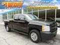 2011 Black Chevrolet Silverado 1500 Extended Cab 4x4  photo #1