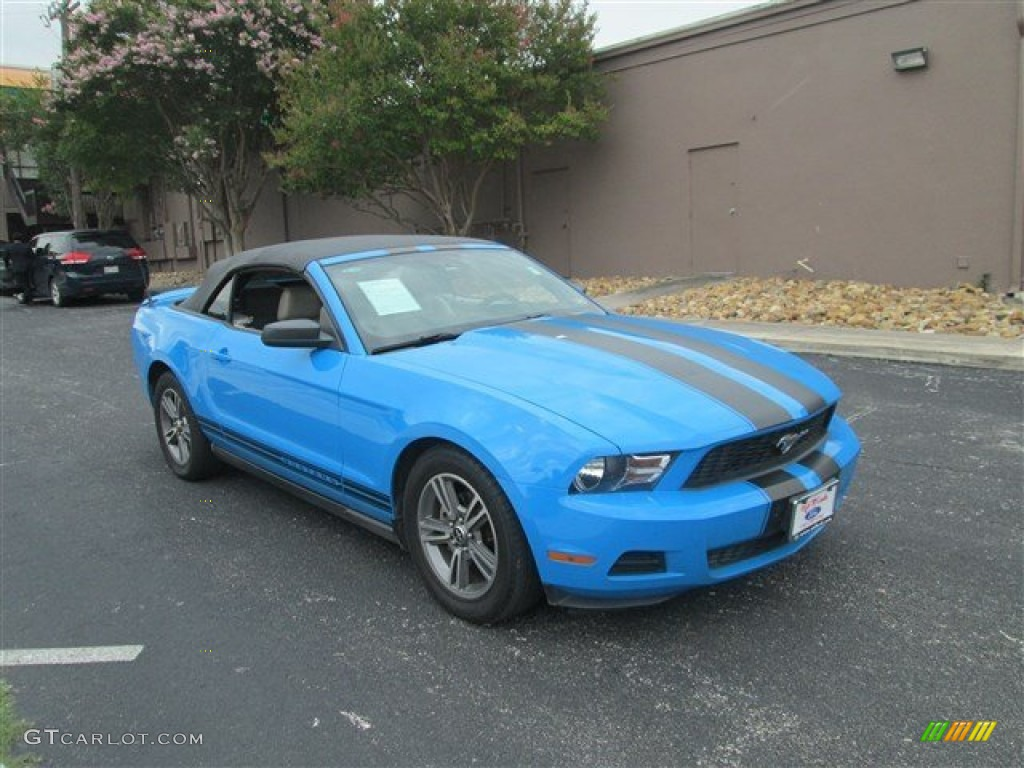 2010 grabber blue ford mustang v6 premium convertible 82389582 car color galleries. Black Bedroom Furniture Sets. Home Design Ideas