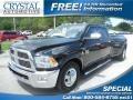 2010 Brilliant Black Crystal Pearl Dodge Ram 3500 Laramie Crew Cab Dually  photo #1