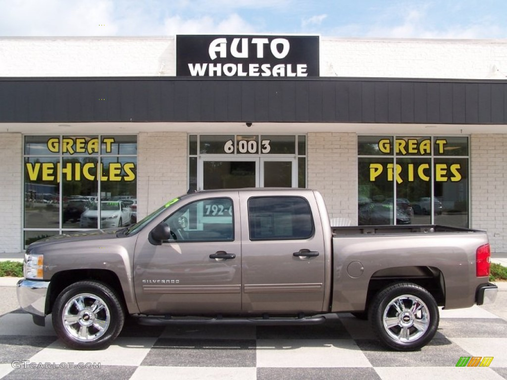 2012 Silverado 1500 LT Crew Cab - Mocha Steel Metallic / Light Titanium/Dark Titanium photo #1