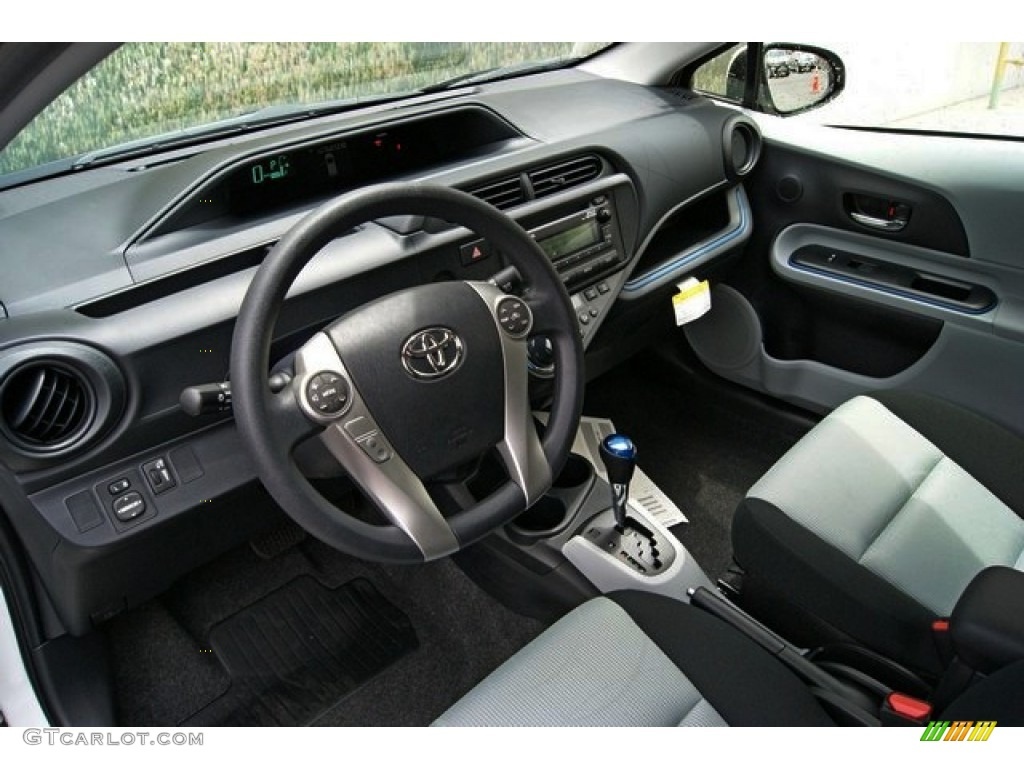 Light Blue Gray/Black Interior 2013 Toyota Prius c Hybrid Two ...