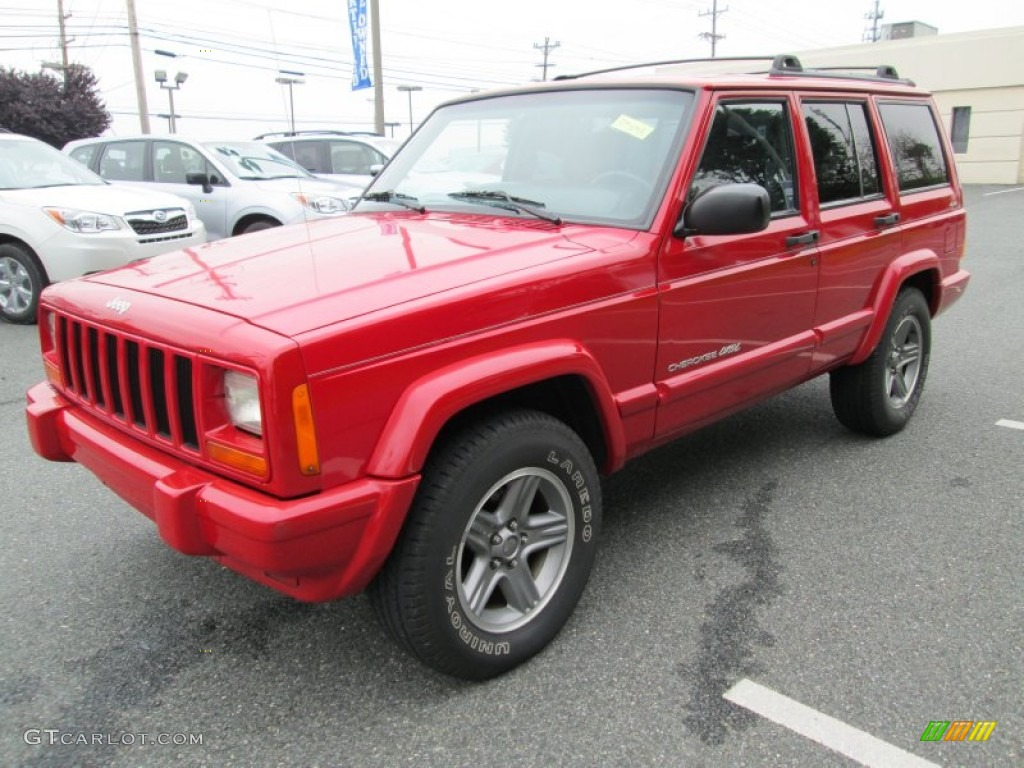 Flame Red 2000 Jeep Cherokee Classic 4x4 Exterior Photo ...