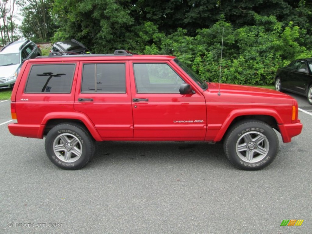 Flame Red 2000 Jeep Cherokee Classic 4x4 Exterior Photo 82440144