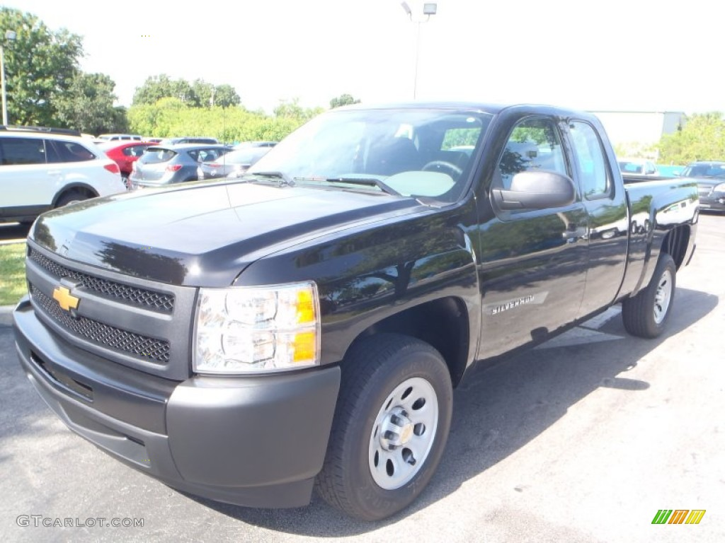 2013 Silverado 1500 Work Truck Extended Cab - Black / Dark Titanium photo #1
