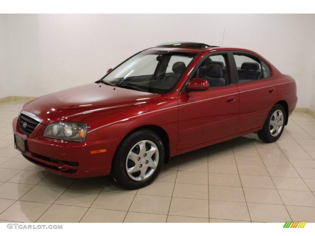 Electric Red 2006 Hyundai Elantra Gls Sedan Exterior Photo