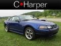 2002 Sonic Blue Metallic Ford Mustang GT Coupe  photo #1