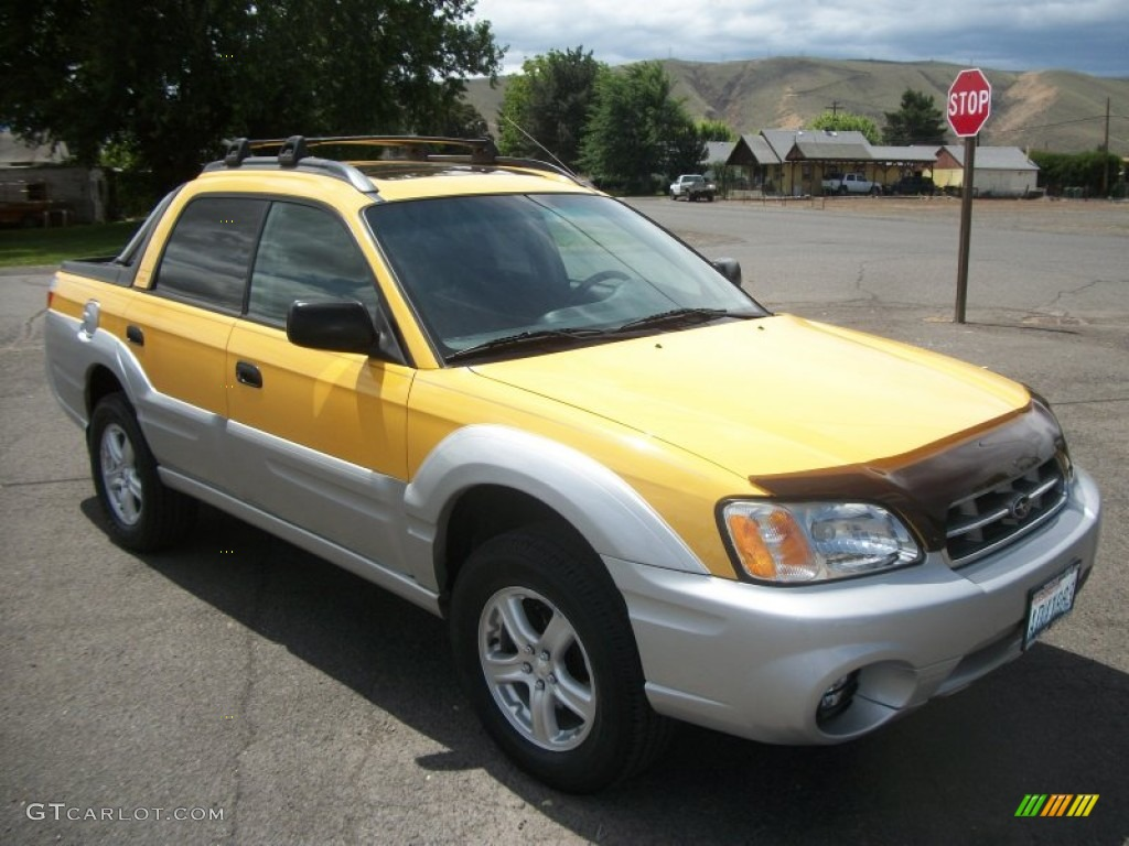 baja yellow 2003 subaru baja sport exterior photo. Black Bedroom Furniture Sets. Home Design Ideas