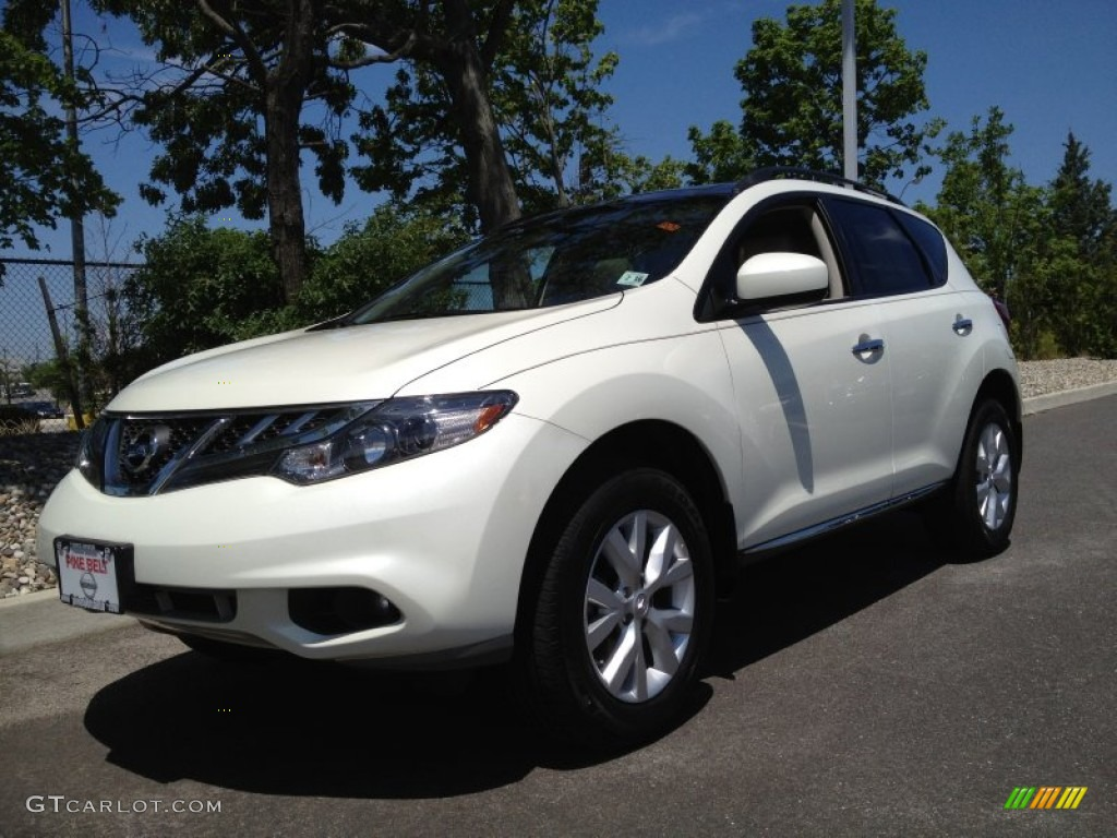 2011 Murano SV AWD - Glacier White Pearl / Beige photo #1