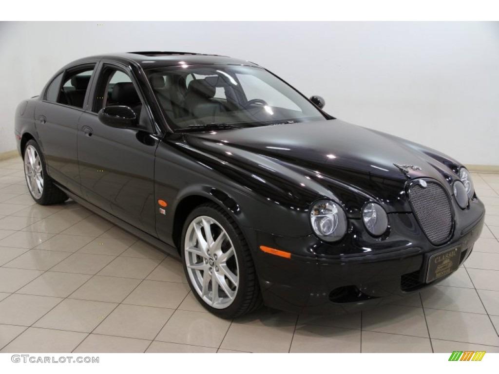 2007 ebony black jaguar s type r sport 82500820. Black Bedroom Furniture Sets. Home Design Ideas