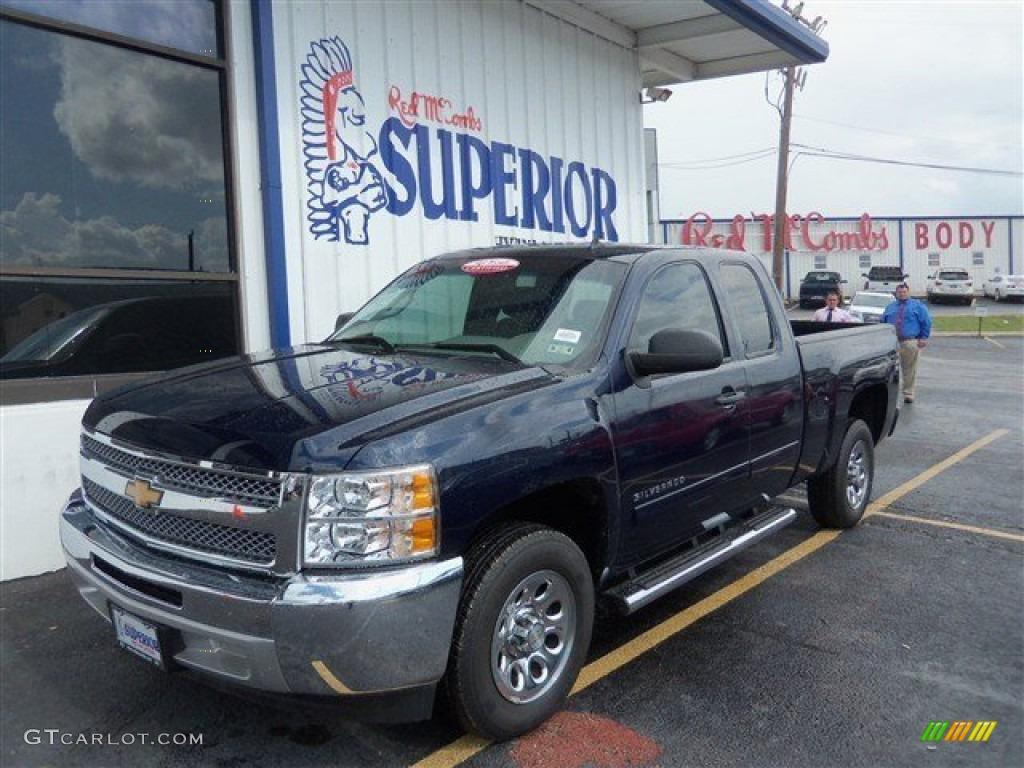 2012 Silverado 1500 LS Extended Cab - Imperial Blue Metallic / Dark Titanium photo #1